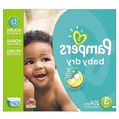 Pampers Baby Dry Pack - 204 Count -