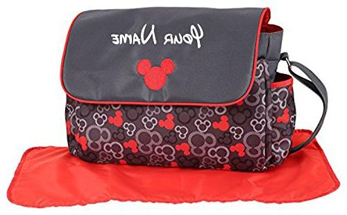 personalized mickey mouse grey red