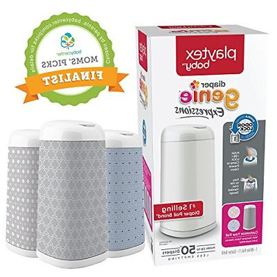playtex expressions customizable diaper pail with starter
