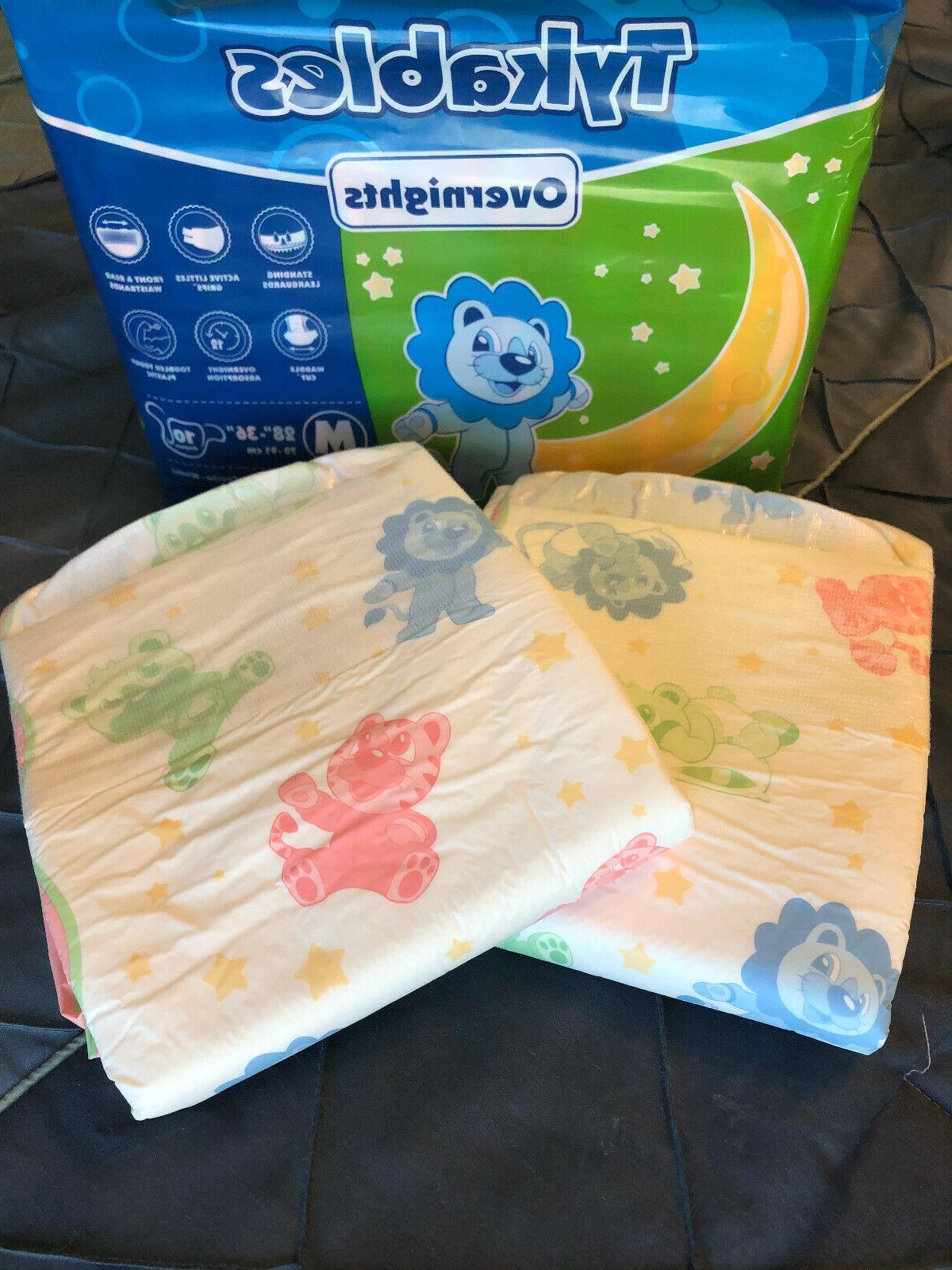 Adult Diaper Sample - Tykables Overnights - Medium - 2 sampl
