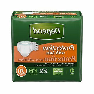 Depend Protection with Tabs Incontinence Underwear, Maximum