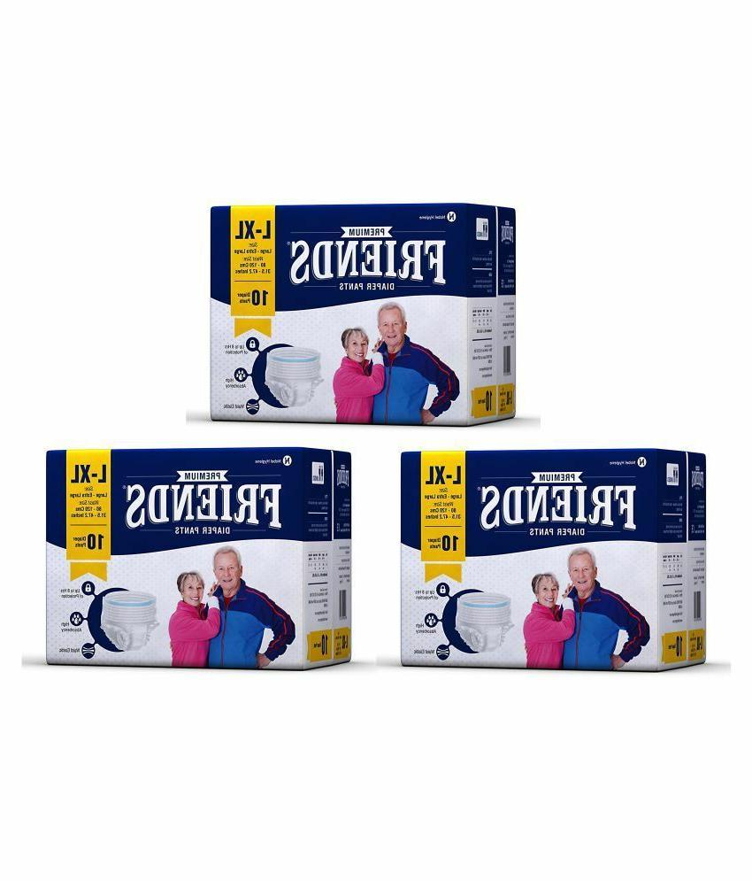 Friends Protective ADULT DIAPERS For Men & Women PULL UP PAN