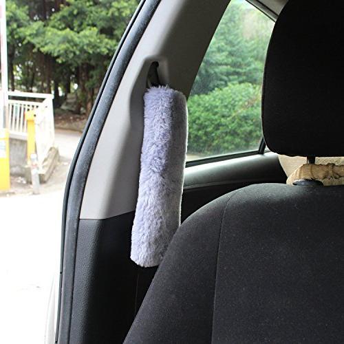 GAMPRO 4-Pack Car Cover Plush Shoulder Pad,Car Safety Shoulder Pad for and Children, Suitable Car Seat Backpack, Shoulder