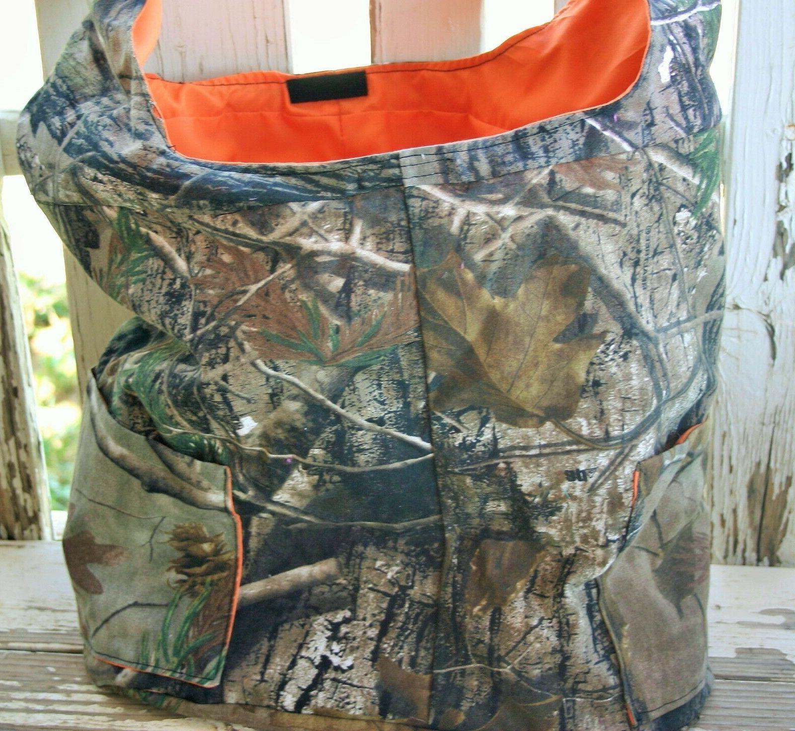 realtree and orange cotton diaper bag