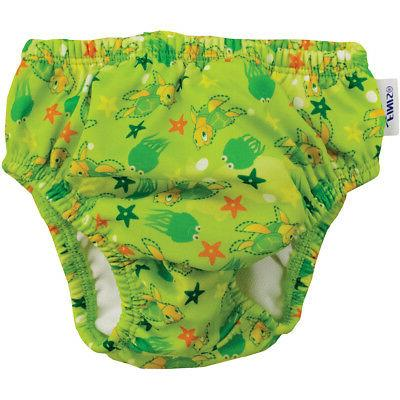 reusable swim diaper turtle green