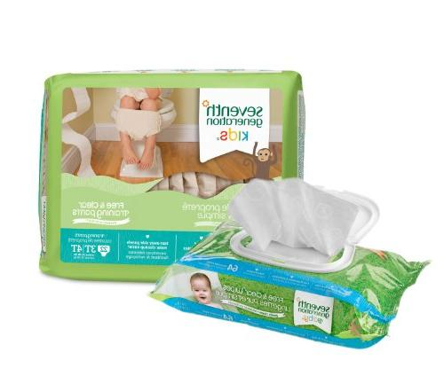 Seventh Generation Toddler Training & Size 3T-4T