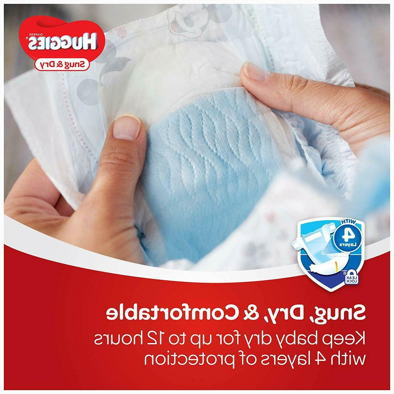 HUGGIES Snug Diapers; Size 4; 192Count