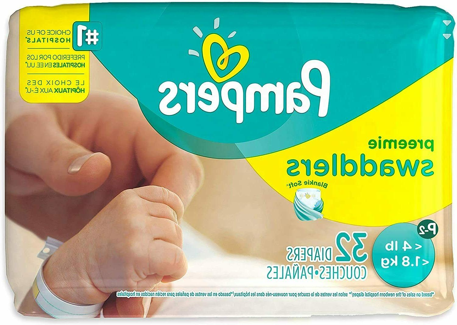 Pampers Swaddlers Diapers - Preemie - XS - 32 ct