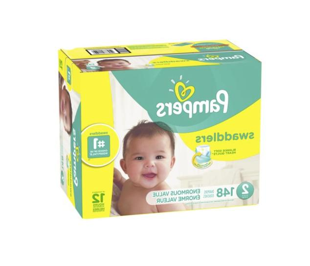 Pampers Swaddlers Diapers Size 2 148 Count , New