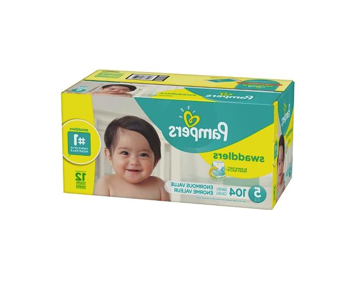 Pampers Swaddlers Diapers, Size 5, 104 Count - Free Shipping