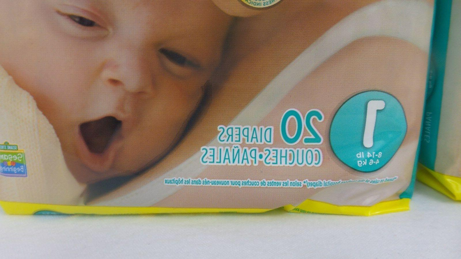 Pampers 1, 20 Count Pack of 2