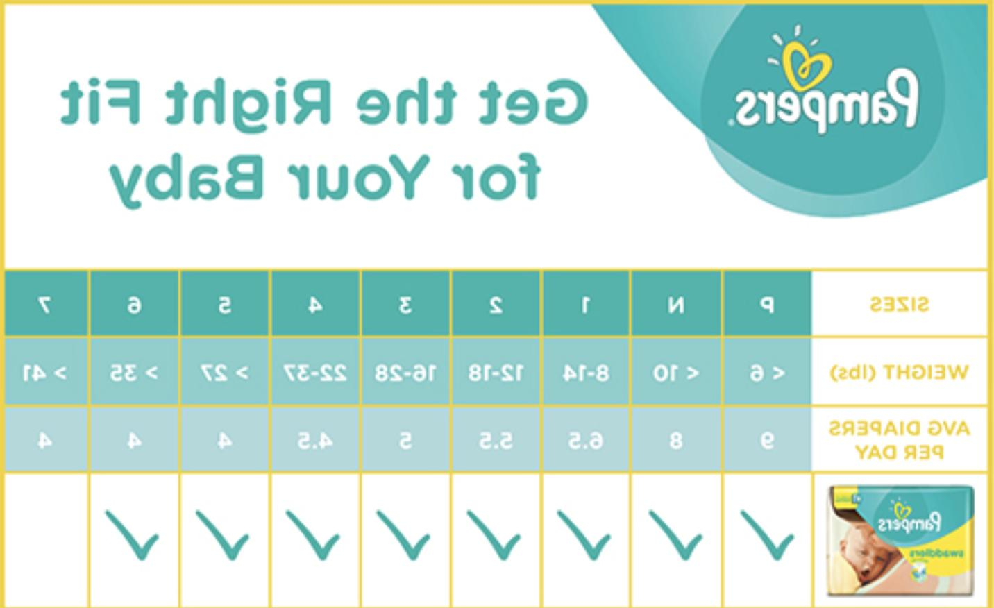 Pampers P-1, 1 2 5 - SIZES