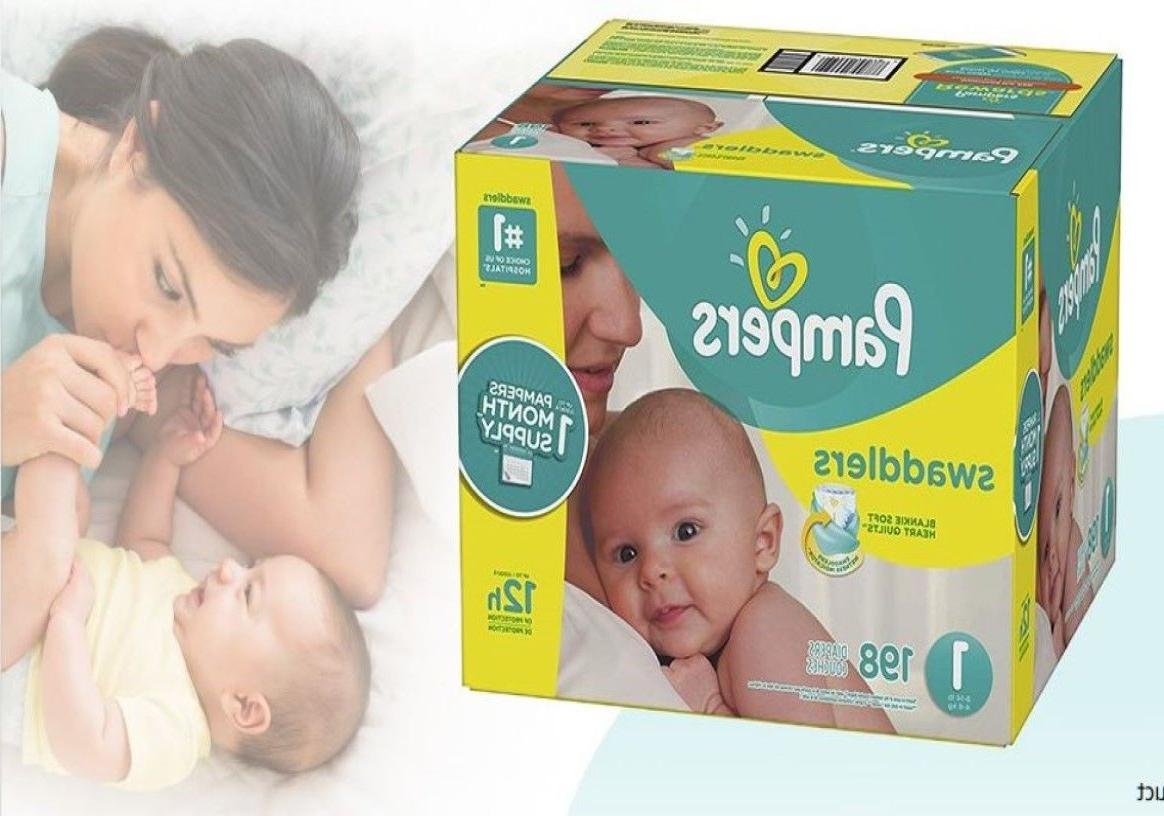 swaddlers disposable baby diapers size 1 198