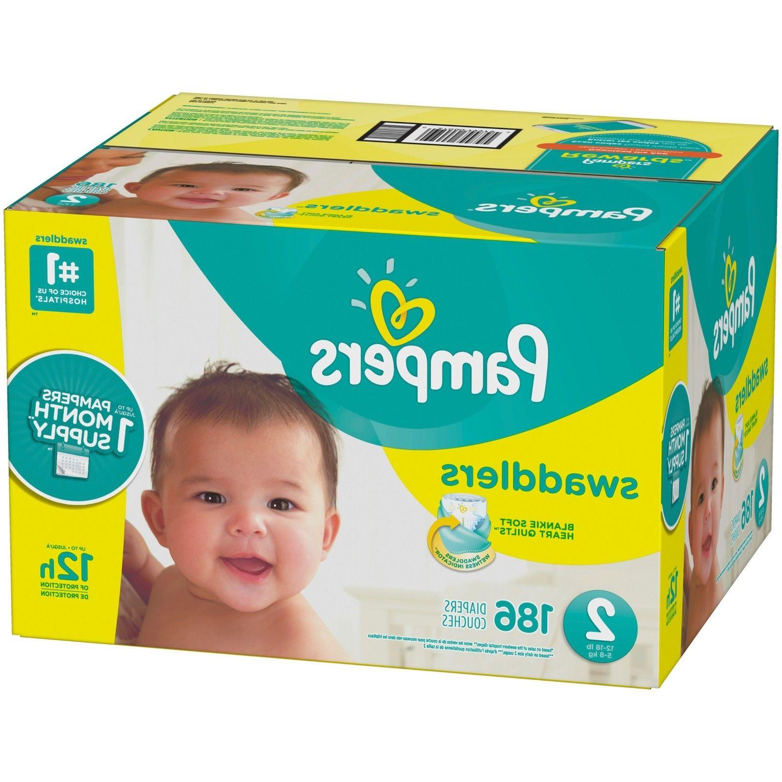 swaddlers disposable diapers size 2 186 count