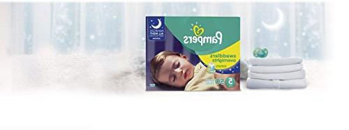 Pampers Overnights Disposable Baby Diapers 5, 50 Count, SUPER