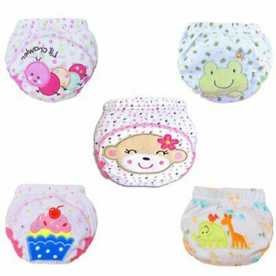 Toddler Nappy Pants Baby Kid Reusable Cotton Waterproof