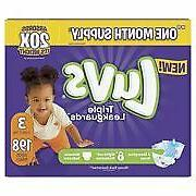 Luvs Triple Leakguards Diapers Size 3 198 Count Free Shippin