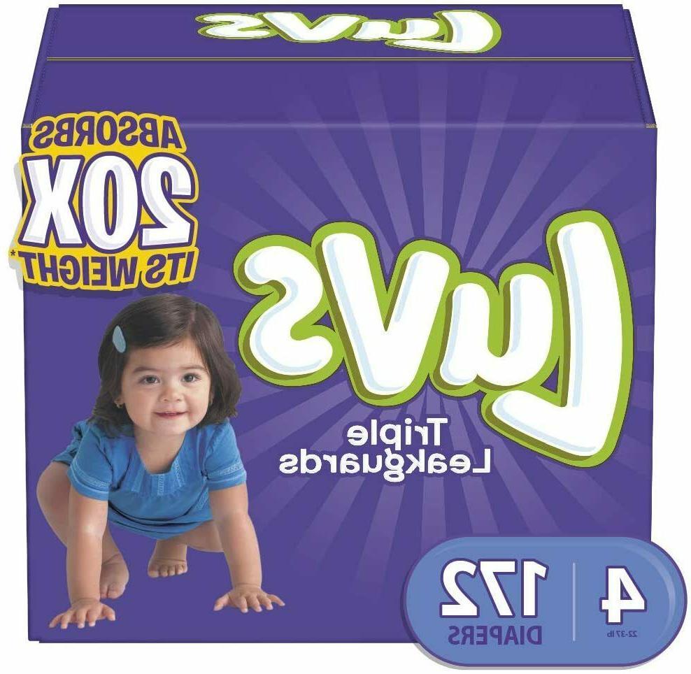 triple leakguards disposable diapers size 4 172