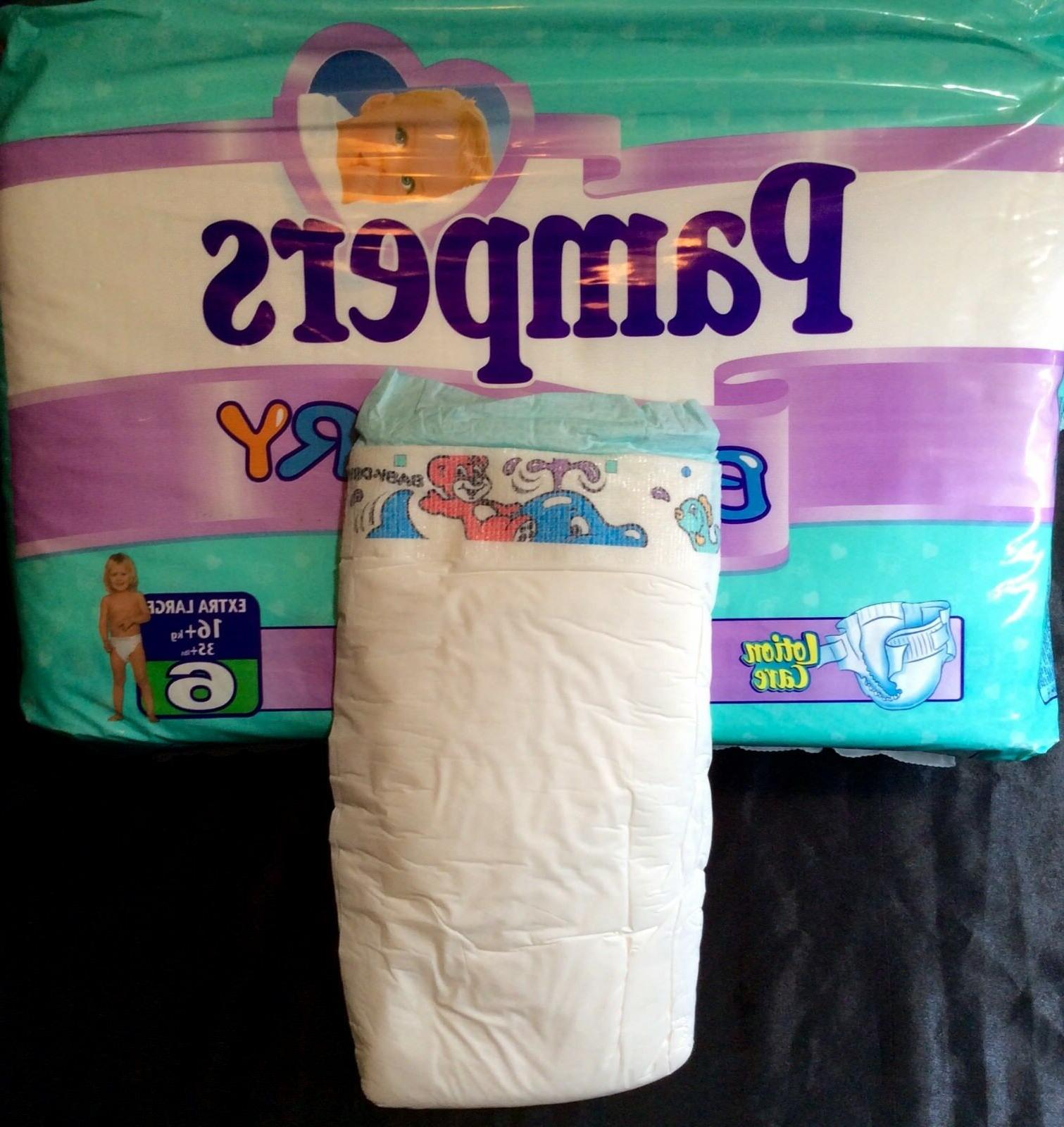 vintage baby dry diaper size 6 xl