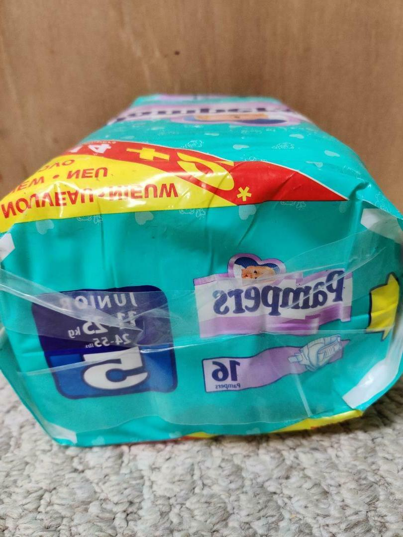Vintage Pampers Plastic Baby Diapers - 5 - 24-55 - 16