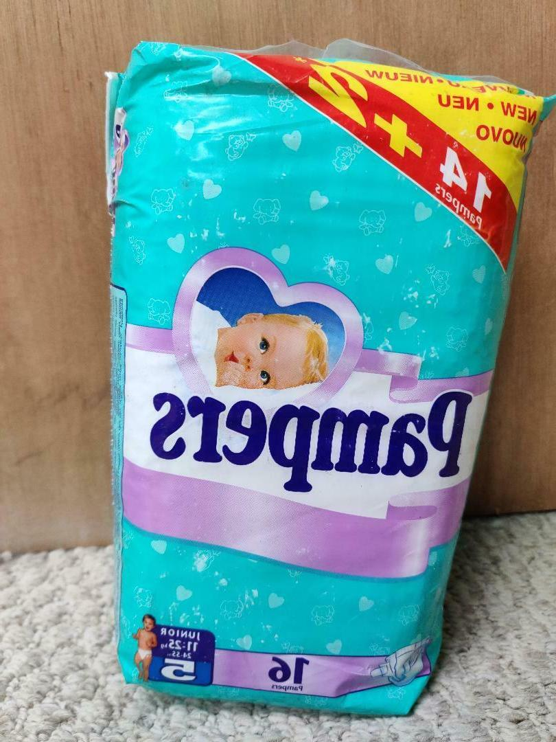 Vintage Pampers Baby Diapers Size 5 - 24-55 lbs -
