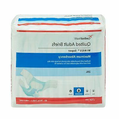 Wings Super HEAVY Absorbency Adult Diaper Brief 2X-LARGE Qui