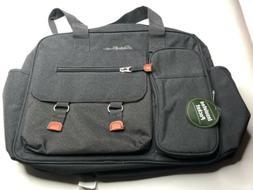 Eddie Bauer Large Diaper Bag Green Orange/Gray Crossbody Mes
