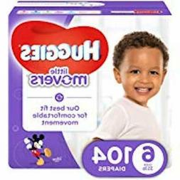 HUGGIES LITTLE MOVERS Active Baby Diapers, Size 6  104 count