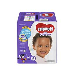 HUGGIES LITTLE MOVERS Diapers, Size 6 , 76 Ct., GIANT PACK ,
