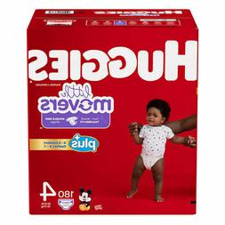 Huggies Little Movers Plus Diapers Size 4, 180ct **