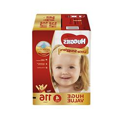 Huggies Little Snugglers Baby Diapers, Size 4, 116 Count, HU