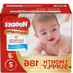 Huggies Little Snugglers Diapers size: 2 -186 ct.