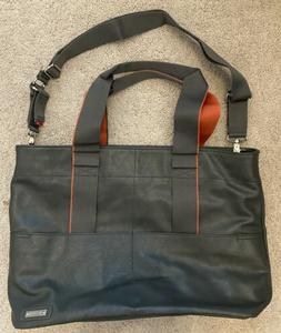 Storksak London Eden Vegan Leather Diaper Bag Gray EUC
