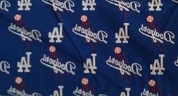 Los Angeles Dodgers MLB Major League Baseball 5.5 yd Cotton