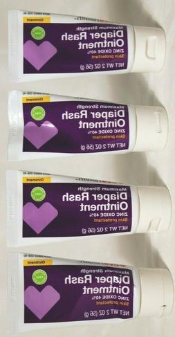 Lot of 4 NEW Diaper Skin Rash Ointment 2 oz each Zinc Oxide