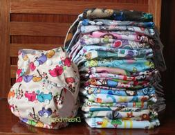 Lot Washable Baby Pocket One Size Nappies Cloth Reusable Dia