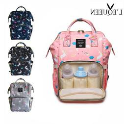 LQUEEN Unicorn Waterproof Diaper Bags Backpack Large Capacit