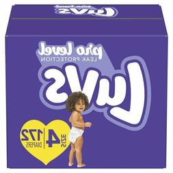LUVS Diapers Size 4 , 172 Count - Luvs Ultra Leakguards Disp