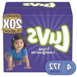 Luvs Ultra Leakguards Disposable Baby Diapers Size 4 172 Cou