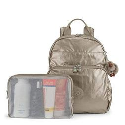 Kipling Maisie Diaper Bag Backpack, Metallic Pewter