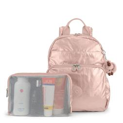 Kipling Maisie Metallic Diaper Bag Backpack One Size Rose Go