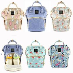 Maternity Nappy Diaper Bag Large Capacity Backpack Baby Trav