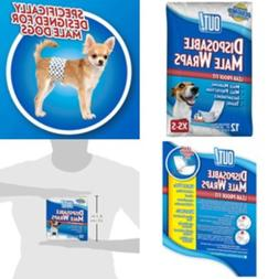 Medium Size Waist Disposable Dog Diapers for Male Wraps Bell