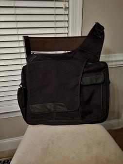 Diaper Dude Messenger II Black Men's Diaper Bag BRAND NEW !!