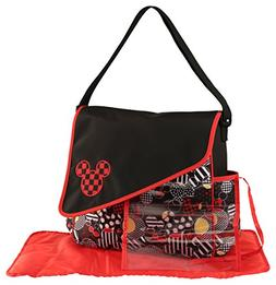 Disney Mickey Mouse Diaper Bag with Asymetrical Flap, Toss H