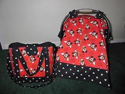 **MICKEY MOUSE** Diaper Bag/tote/toddler bag & Car Seat Cano