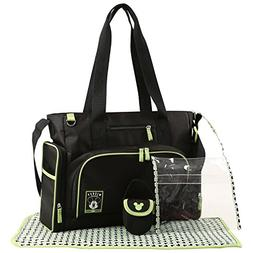 Disney Mickey Mouse Five Piece Diaper Bag Set, Black