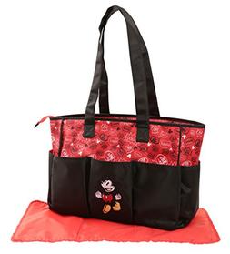 Disney Mickey Mouse Graffiti Print Triple Pocket Diaper Bag