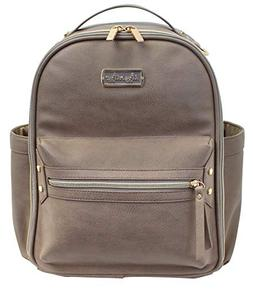 Itzy Ritzy Mini Diaper Bag Backpack with Changing Pad, Taupe