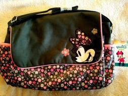 Disney Minnie Mouse Diaper Bag with Flap, Ditsy Floral Print